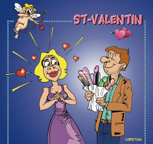 Cartoon: jeu saint valentinalentin ... (medium) by CHRISTIAN tagged jeu,