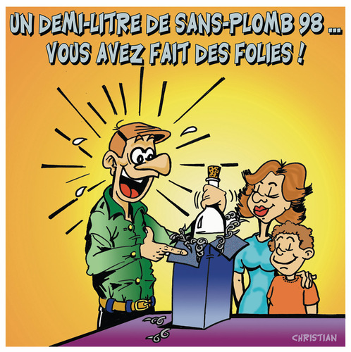 Cartoon: L essence se fait rare ...!!! (medium) by CHRISTIAN tagged essence,greves