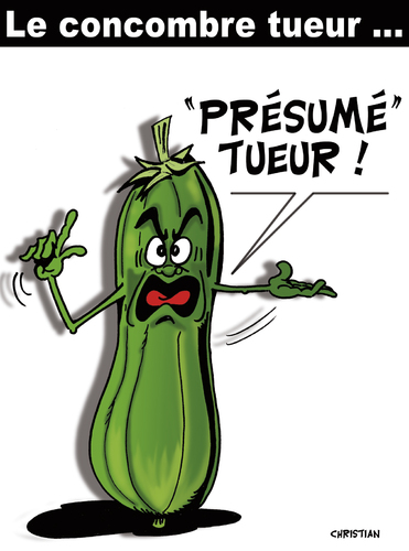 Cartoon: LE CONCOMBRE TUEUR ! ... (medium) by CHRISTIAN tagged concombre,bacterie