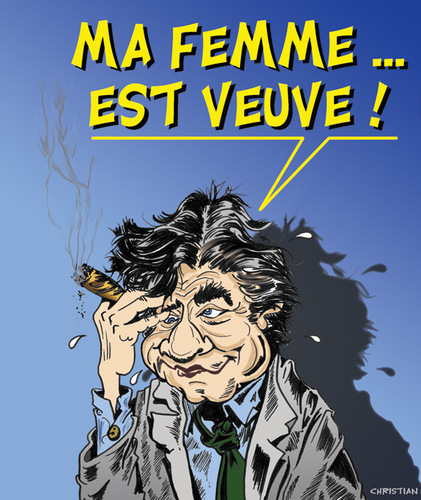 Cartoon: PETER FALK raccroche son imper (medium) by CHRISTIAN tagged columbo