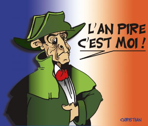 Cartoon: sarkolon - napozy (medium) by CHRISTIAN tagged sarkozy,napoleon