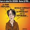 Cartoon: Arlette CHABOT (small) by CHRISTIAN tagged besson,peillon,le,pen
