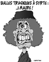 Cartoon: Au suivant ! (small) by CHRISTIAN tagged kadhafi,cnt,lybie