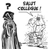 Cartoon: confusion ... (small) by CHRISTIAN tagged burka,apiculteur