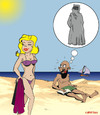 Cartoon: FANTASMES ...! (small) by CHRISTIAN tagged burka