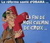 Cartoon: Joyeuses Paques et bonne sante ! (small) by CHRISTIAN tagged obama,reforme,sante