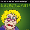 Cartoon: Les verts ... au vert ! (small) by CHRISTIAN tagged eva,joly,vert,ecolo