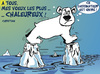 Cartoon: MEILLEURS VOEUX ! (small) by CHRISTIAN tagged climat,rechauffement,fonte,glacier,ours,polaire