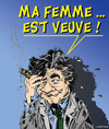 Cartoon: PETER FALK raccroche son imper (small) by CHRISTIAN tagged columbo