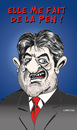 Cartoon: Quel debat ! (small) by CHRISTIAN tagged melenchon,le,pen