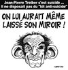 Cartoon: Suicide d TREIBER (small) by CHRISTIAN tagged treiber