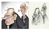 Cartoon: Sketch to final (small) by tooned tagged cartoon,caricature,illustration