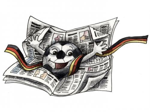 Cartoon: Zeitung - Newspaper (medium) by Abonaut tagged fußball,zeitung,tageszeitung,tbm,papertown,abovalley