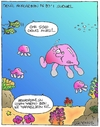 Cartoon: Jellyfish (small) by gultekinsavk tagged jellyfish,fat,water,su,fish,deniz,sea