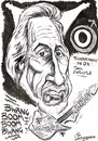 Cartoon: JOHN ENTWISTLE (small) by Tim Leatherbarrow tagged john,entwistle,who,bass,ox,thunderfingers