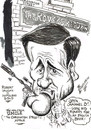 Cartoon: ROBERT VAUGHN-NAPOLEAN SOLO (small) by Tim Leatherbarrow tagged napolean,solo,robert,vaughn,uncle,spy,television