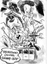 Cartoon: WHERE EAGLES DARE (small) by Tim Leatherbarrow tagged caricature,where,eagles,dare,clint,eastwood,richard,burton,broadsword,dannyboy,cablecar