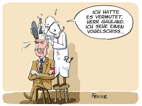 Cartoon: Gaulands Vogelschiss (medium) by FEICKE tagged afd,gauland,nazi,vergleich,afd,gauland,nazi,vergleich