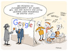 Cartoon: Google und Huawei (small) by FEICKE tagged huawei,google,handy,mobil,telefon,daten,schutz,usa,china,spion