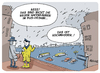 Cartoon: Neue Hafenfähren in Hamburg (small) by FEICKE tagged hansestadt,hamburg,fähre,haag,hafen,rundfahrt,bus,optik,hochwasser,sturmflut