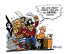 Cartoon: Piraten bereit zum Entern (small) by FEICKE tagged piraten,parteitag,berlin,bundestag,wahlkampf,durchstarten,enter,taste,bayern
