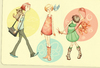 Cartoon: Three circles (small) by Enita tagged character,design,girls,cartoon,illustration,colors,digital,paint,draw
