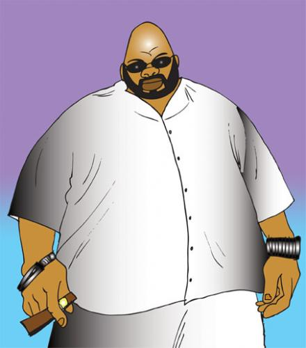 Cartoon: Suge Knight (medium) by grant tagged suge,knight,caricature