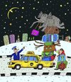 Cartoon: der Kofferraum (small) by Sergei Belozerov tagged kofferraum,elefant,taxi