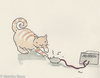 Cartoon: High Voltage (small) by monika boos tagged cat katze high voltage strom gemein
