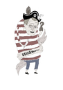 Cartoon: pirate (small) by jannis tagged pirate,portrait