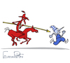 Cartoon: EURO 2012 (small) by Elkin tagged footbal