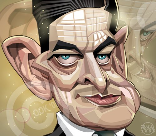 Cartoon: T.S.Eliot (medium) by Russ Cook tagged illustration,computer,digital,vector,karikaturen,karikatur,caricature,cook,russ,american,america,poet,eliot,stearns,thomas