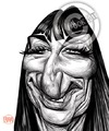 Cartoon: Anjelica Huston (small) by Russ Cook tagged anjelica,huston,russ,cook,caricature,movies,famous,hollywood,actor,actress,morticia,addams,family,buffalo,66,prizzis,honour,horrid,celebrity,illustration,drawing,digital,wacom,cintiq,henry