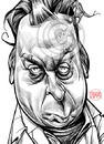 Cartoon: Christopher Hitchens (small) by Russ Cook tagged christopher,hitchens,writer,author,essayist,polemicist,debater,debate,public,polemic,essay,writing,journalist,contrarian,god,is,not,great,letters,to,young,mother,theresa,atheist,atheism,trotsky,trotskyist,labour,socialist,marxist,marxism