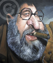 Cartoon: Sergio Leone (small) by Russ Cook tagged sergio,leone,film,famous,celebrity,karikatur,karikaturen,zeichnung,spaghetti,western,caricature,painting,acrylic,producer,director,russ,cook