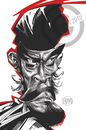 Cartoon: Toshiro Mifune (small) by Russ Cook tagged seven,samurai,toshiro,mifune,russ,cook,karikatur,karikaturen,zeichnung,caricature,yojimbo,actor,japan,japanese,rashomon,film,star,cinema
