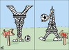 Cartoon: france in. france out (small) by samir alramahi tagged france world cup football south africa