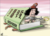 Cartoon: Gaddafi Greenbook (small) by samir alramahi tagged qaddafi,arab,gaddafi,libya,revelution,dictator,africa,ramahi