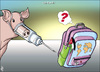Cartoon: h1n1  in Jordan (small) by samir alramahi tagged h1n1 jordan arab ramahi
