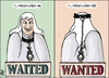 Cartoon: obama speach (small) by samir alramahi tagged obama,wanted,usa,arab,scarf,ramahi,kofiah,cartoon