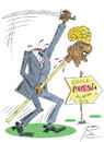 Cartoon: Neue Feinde USA (small) by Sergey Repiov tagged obama,usa,wahnsinn