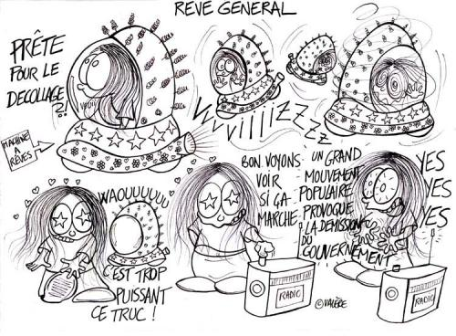 Cartoon: General dreaming (medium) by Valere tagged dream,french,government,demission