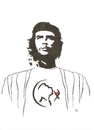 Cartoon: Che Guevara unknown (small) by Erwin Pischel tagged che,guevara,wein,weinglas,pischel