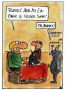 Cartoon: Ober in der Suppe (small) by spass-beiseite tagged restaurant ober karte speisekarte essen trinken geschäft wirt glas bier beiseite spass unterhaltung panel fun illustration design pointe kunst comicstrips comictagebuch tagebuch comic cartoons cartoon witz bildwitz