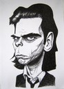 Cartoon: Nick Cave (small) by caknuta-chajanka tagged famous,person