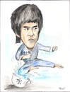 Cartoon: BRUCE LEE (small) by ANDRZEJ PACULT tagged bruce,lee,kung,fu,martial,arts,sport