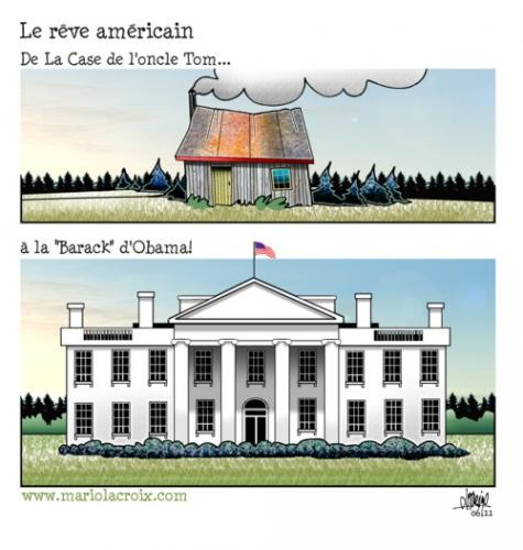 Cartoon: American dream (medium) by Mario Lacroix tagged usa,obama,american