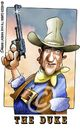Cartoon: John Wayne The Duke (small) by Mario Lacroix tagged movie,star,actor,wayne