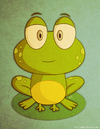 Cartoon: A random Frog (small) by kellerac tagged rana animal maria keller cartoon nature caricatura naturaleza