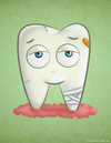 Cartoon: Sick Tooth (small) by kellerac tagged cartoon,sick,tooth,maria,keller,kellerac,health,dentist